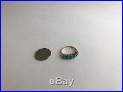 Antique 1930's 14k yellow Gold Sleeping Beauty Persian turquoise Ring, 5
