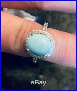Arizona Sleeping Beauty Turquoise Sterling Silver ring Size 8, TGW 4.30cts, NEW