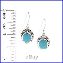 Artisan Silver by Samuel B. 1 10 x 8mm Sleeping Beauty Turquoise Drop Earrings