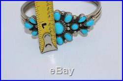 B. Johnson Navajo Cuff Bracelet, Sleeping Beauty Turquoise, Sterling