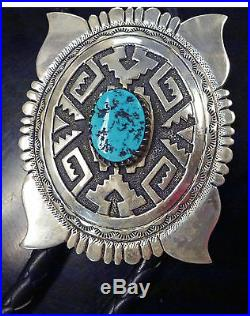BJSTAMPS Vintage Tommy Singer Sterling BOLO Sleeping Beauty Turquoise