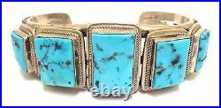 Beautiful Handmade Navajo Sterling Silver Sleeping Beauty Turquoise Bracelet