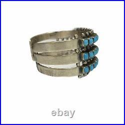 Beautiful Navajo St Silver Sleeping Beauty Turquoise Bracelet Paul Livingston