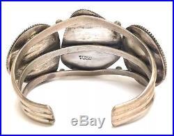 Beautiful Navajo Sterling Silver Sleeping Beauty Turquoise Bracelet- W J Johnson