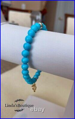 Bohème Natural Sleeping Beauty Turquoise Flower Bracelet