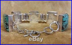 Bracelet (B17) Navajo Godber & Sleeping Beauty Turquoise Link