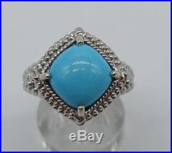Breathtaking sleeping beauty turquoise genuine Solid Sterling Silver Ring sz7.25