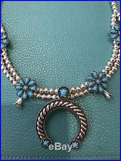 CAROLYN POLLACK American West Sleeping Beauty Turquoise Squash Blossom Necklace