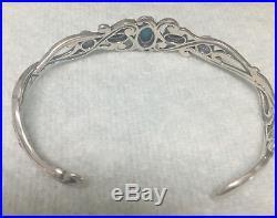 CAROLYN POLLACK Sterling Sleeping Beauty Turquoise Cuff Bracelet