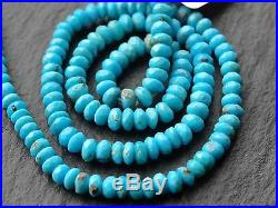 CUT NATURAL SLEEPING BEAUTY TURQUOISE RONDELLES, 4mm 4.4mm, 15, 145 beads