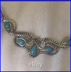 Carolyn Pollack American West Necklace Sleeping Beauty Turquoise 925