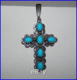 Carolyn Pollack American West Sleeping Beauty Turquoise Cross Enhancer