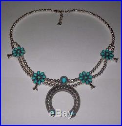 Carolyn Pollack American West Sleeping Beauty Turquoise Necklace Naja Pendant