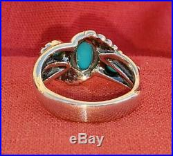 Carolyn Pollack American West Sleeping Beauty Turquoise Sterling Ring Sz 8 Cr925