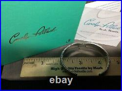 Carolyn Pollack Relios 925 Sterling Sleeping Beauty Turquoise Cuff Bracelet 6.5