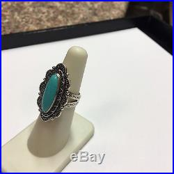 Carolyn Pollack Relios R Moon Sterling Silver Sleeping Beauty Turquoise Ring