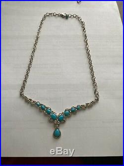 Carolyn Pollack Relios Sterling Silver Blue Sleeping Beauty Turquoise Necklace