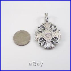 Carolyn Pollack Relios Sterling Silver Sleeping Beauty Turquoise Pendant LFL3