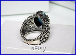 Carolyn Pollack Relios Sterling Silver Sleeping Beauty Turquoise Ring Sz 7.5