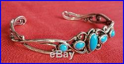 Carolyn Pollack Relios Sterling Sleeping Beauty Turquoise Cuff Bracelet Cr 925 8