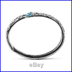 Carolyn Pollack Signature Sleeping Beauty Turquoise Sterilng Silver Hinged Cuff