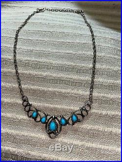 Carolyn Pollack Sleeping Beauty Sterling Silver Turquoise Necklace