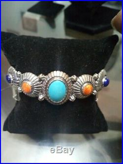 Carolyn Pollack Sleeping Beauty Turquoise And Other Stones Sterling Silver