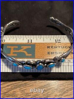 Carolyn Pollack Sleeping Beauty Turquoise Cuff Bracelet SMALL 5.5 Wrist