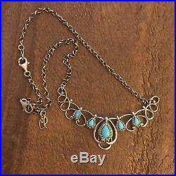 Carolyn Pollack Sleeping Beauty Turquoise Statement Necklace with Extender