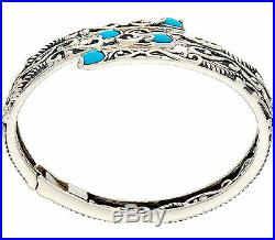Carolyn Pollack Sleeping Beauty Turquoise Sterling Silver Bracelet QVC $247
