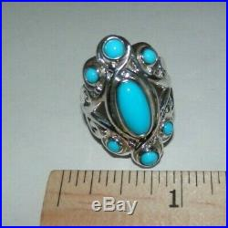Carolyn Pollack Sleeping Beauty Turquoise Sterling Silver Split Ring Size 8