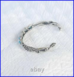 Carolyn Pollack Sterling Silver SLEEPING BEAUTY TURQUOIS Cuff Bracelet NEW