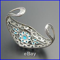 Carolyn Pollack Sterling Silver Sleeping Beauty Turquoise Cuff Bracelet