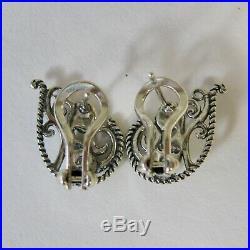 Carolyn Pollack Sterling Silver Sleeping Beauty Turquoise Enchancer & Earrings