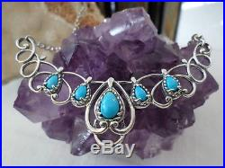 Carolyn Pollack Sterling Southwest Sleeping Beauty Turquoise Necklace New