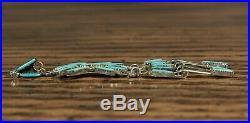 Chandelier Sleeping Beauty Turquoise Zuni Earrings Needlepoint Jeannie Lastiyano