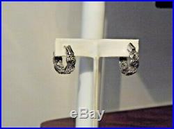 Chuck Clemency Gem Treasures Sleeping Beauty & Wh Zir Inside Out Hoop Earrings
