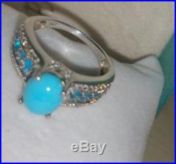 Chuck clemency NYCII sterling silver Sleeping Beauty Turquoise aqua Apatite ring