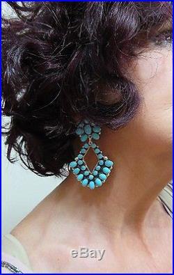 DON LUCASSleeping Beauty TurquoiseCluster Dangle925 Earrings