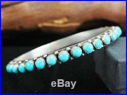 Dan Dodson! Sleeping Beauty Turquoise And Sterling Silver Bangle Bracelet