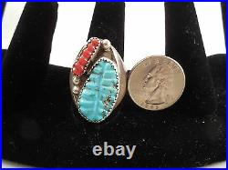Dead Pawn Navajo Handmade Sleeping Beauty Turquoise Ring Set In Sterling Silver