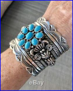 Delbert Gordon Wide Cuff feat. A Sleeping Beauty Turquoise Cluster Signed