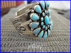 Don Lucas 0.925 Cuff Bracelet AUTHENTIC Sleeping Beauty Turquoise SIGNED