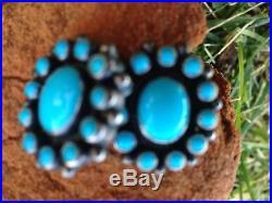 Don Lucas SLEEPING BEAUTY Turquoise Sterling Silver Pierced Earrings