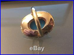 ESTATE 14K Gold Turquoise Ring SLEEPING BEAUTY 6.9 Grams