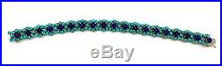 Estate 18K Yellow Gold Lapis Lazuli & Sleeping Beauty Turquoise Bracelet