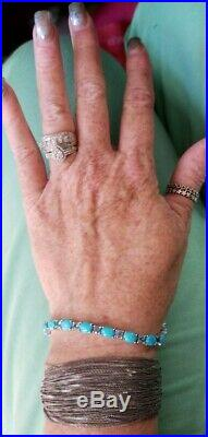 Evine Gem insider Sleeping Beauty Turquoise Sterling silver tennis bracelet