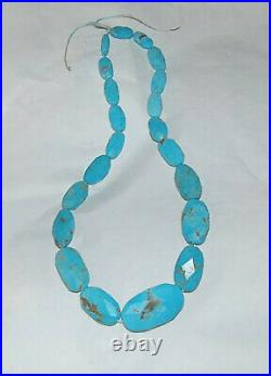 FACETED SLEEPING BEAUTY TURQUOISE OBLONG BEADS 16.5 Strand 2238C