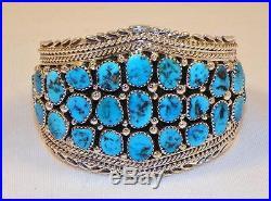 Finenative Americannavajosterling Silversleeping Beauty Turquoisebracelet