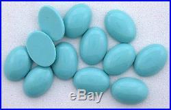 FOUR 14x10 Oval Resinated Sleeping Beauty Turquoise Cabochon Cab Gemstone 5911